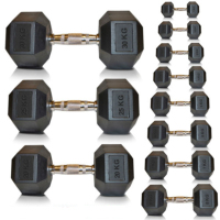 Hex Dumbbells Rubber Weights Training Sets Hexagonal Dumbbell Gym