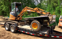 Mini Compact Excavator Heavy Duty Dumping Trailer