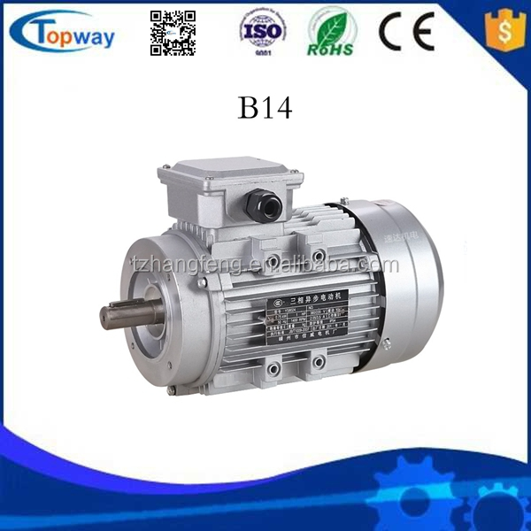 B14 mounting position Y2 Three-phase Electric AC Induction Motor 1400rpm