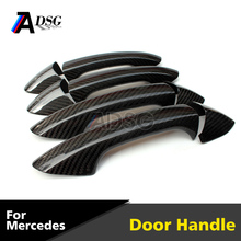 Carbon fiber car door handle cover trim for Mercedes A class W176 C / E/ S / CLA /CLS class