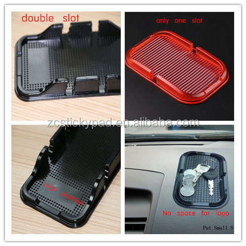 Best selling car accessories 2 slots washable sticky mat for or mobile