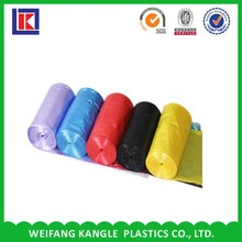 customized composable colorful star seal bottom kitchen garbage bag on roll