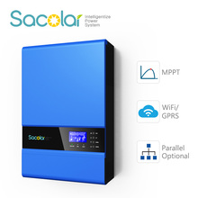 APP monitoring inverter/ 4kw 48V off grid solar hybrid power inverter with MPPT solar charger controller