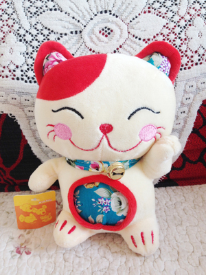 Plush Lucky cat pillow Toy Stuffed fortune cat Toys Home Deco Doll