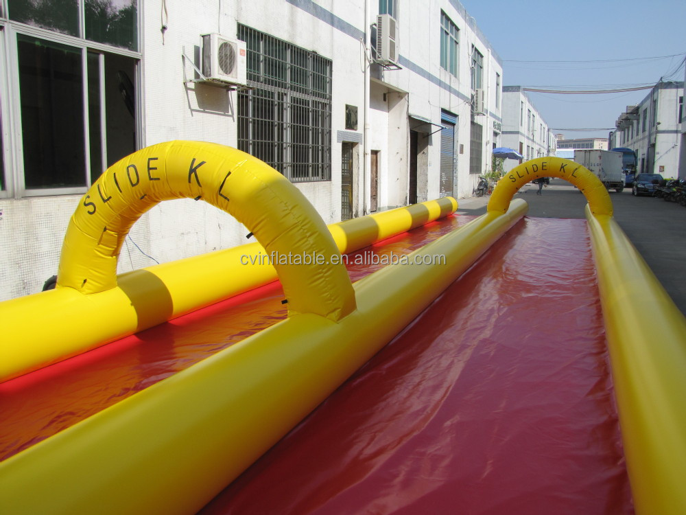 1000ft super giant inflatable slip n slide the city slide, inflatable water urban slide, inflatable monster slide on sales