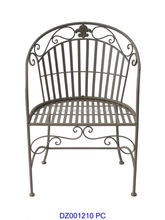 Outdoor Wrought Iron Spring Leisure Chair Furnture