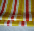 Stripe Pe Tarpaulin Rolls Green White Color 240gsm