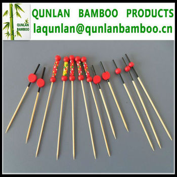 Natural Bamboo Fruit Sticks 9,10,12,15