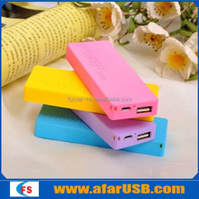 Colorful thinner perfumed mobile power bank 5600mah