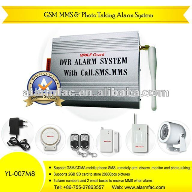 GSM MMS DVR Alarm System with Photo-taking & Listen-in(YL-007M8)