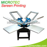 flat screen printing machine, esay operation, 4 Color / 4 stations, for hot sale