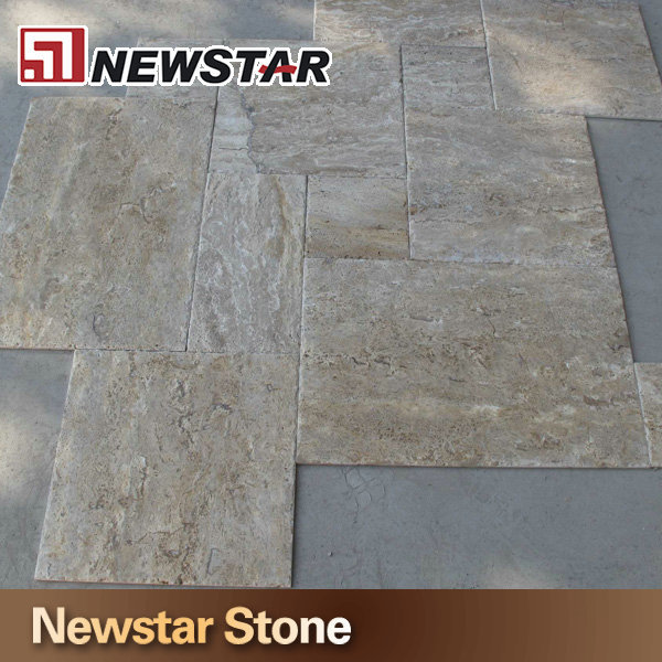 Travertine tile,travertine marble,french pattern travertine tile