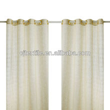 Special stripe and slubbed fabric window curtain