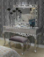 Antique wooden dressing table designs with dressing mirror BR-001#