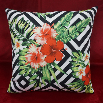 Classical geometric patterns digital printing cotton canvas sofa cushion cover