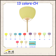 chartreuse best selling chinese paddle hand fan for wedding gifts