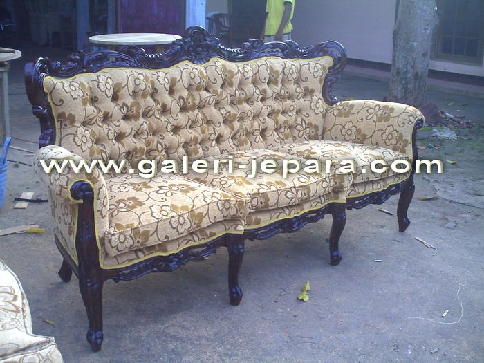 Wooden Sofa Sets - Antique Living Room Furniture - Sofas Antique 3 Seater
