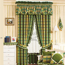 country grid style brazil restaurant printed curtains