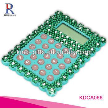 Customer Design Rhinestone Diamond Promotional Desktop Calculator Manufactory|Factory|Exporter