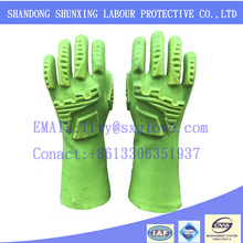 Special process production protective Anti-impact PVC working gloves
