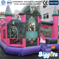 EN71 Princess Theme Inflatable Combo PVC Commercial Material