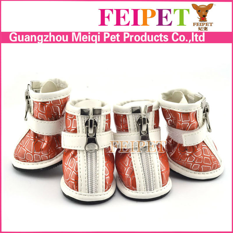 Heated pet products PU leather waterproof dog boots