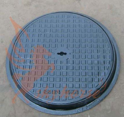 EN 124 C250 500mm Ductile iron anti theft triangle manhole cover
