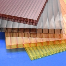Plastic building roofing polycarbonate 2 wall pc sunshine hollow sheet