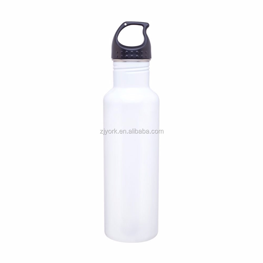 Customized logo, colorful painting,<strong>eco</strong> friendly & BPA free,750ml single wall stainless steel drinking cold water bottle