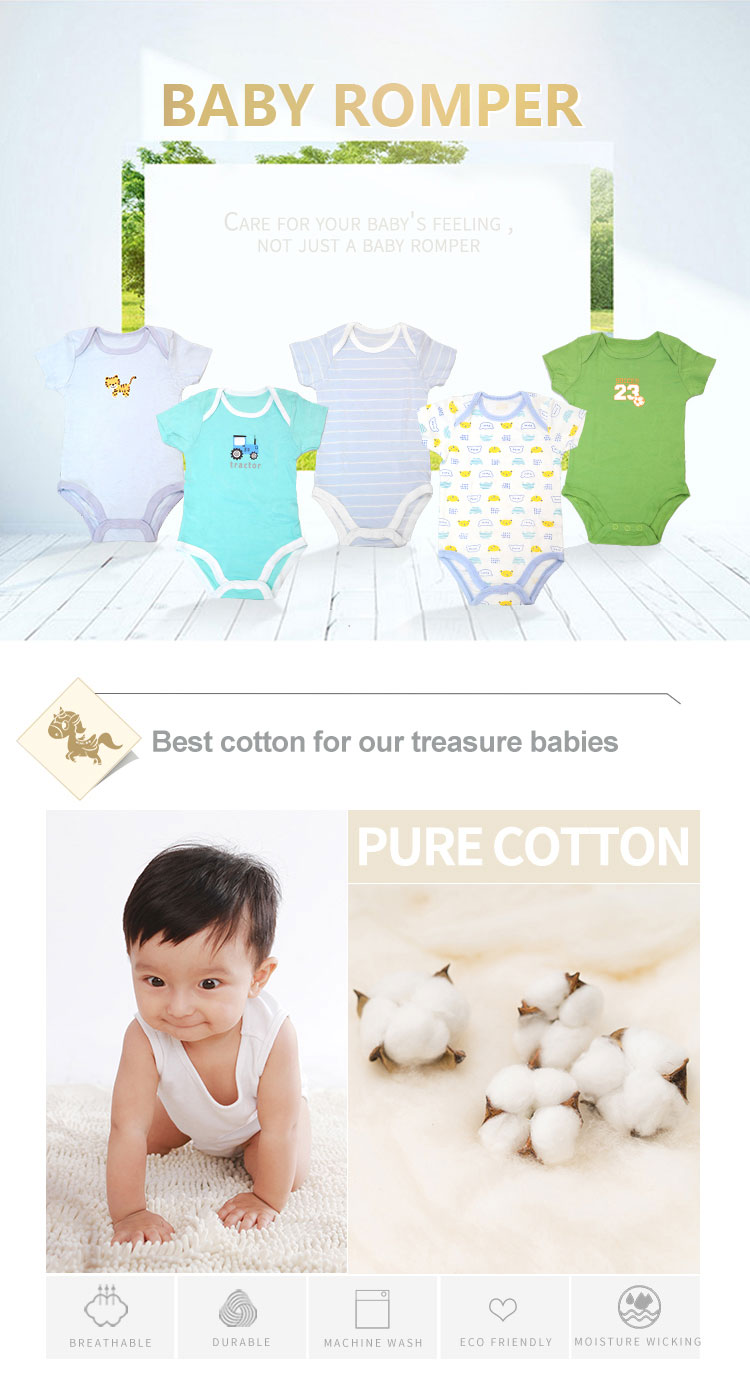 Soft & comfortable boy clothes 100% cotton baby body suit,sleeveless baby romper