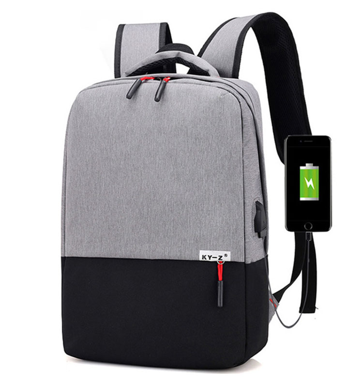 New design hot sale fashion USB back pack with computer <strong>bag</strong>