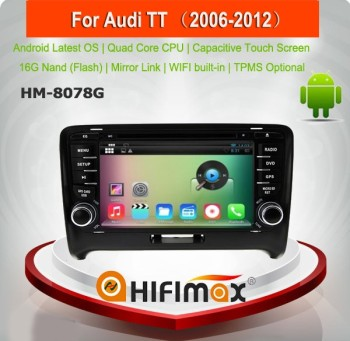 HIFIMAX Android 5.1.1 car dvd player for Audi TT (2006-2012)WITH Capacitive screen 1080P 8G ROM WIFI 3G INTERNET DVR