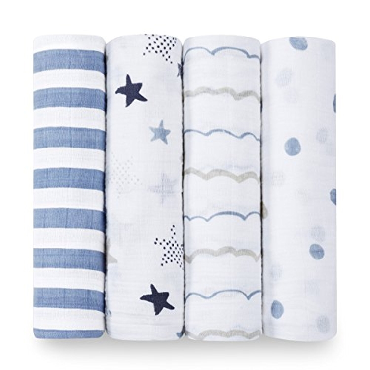 6 Months plus adjustable full size small medium large breathable gentle 100 cotton muslim baby swaddle blankets 3 pack