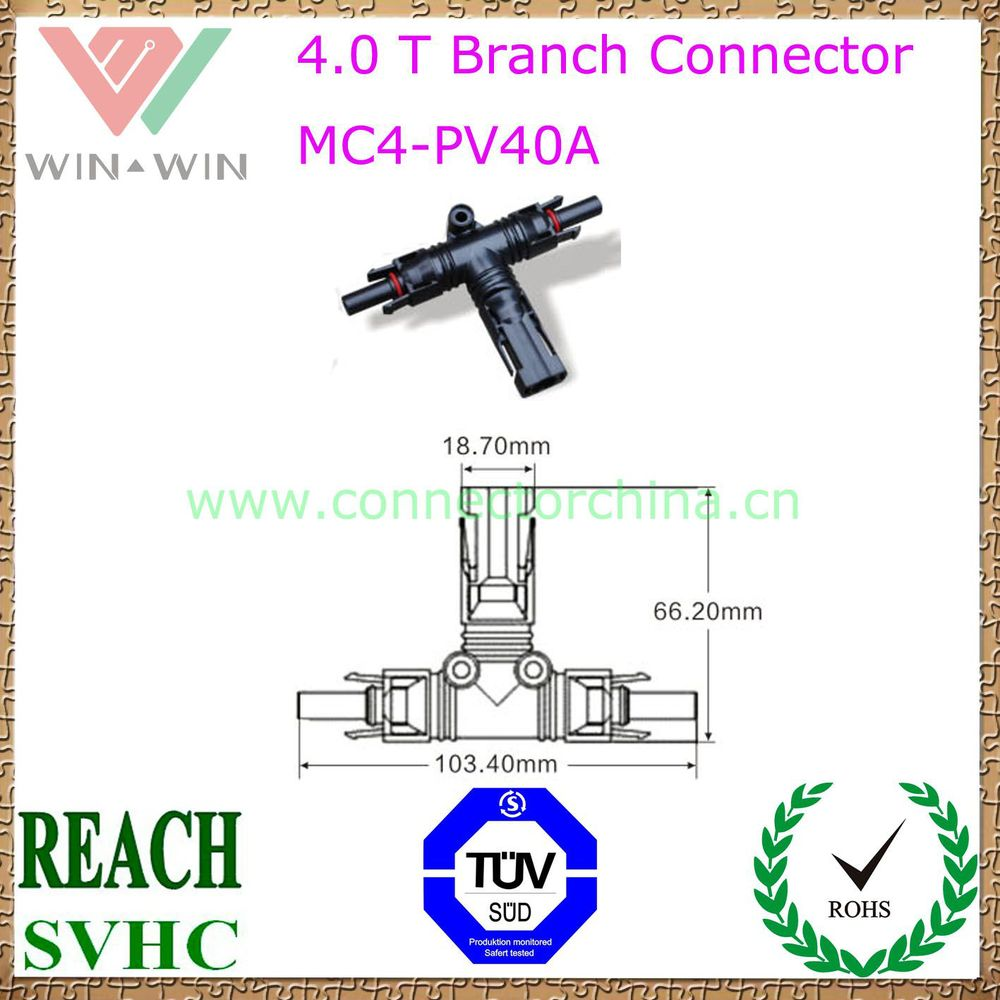 China manufacturing MC4-PV40A T Branch Connector