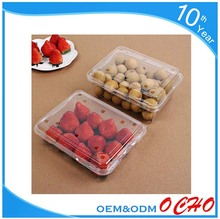 Wholesale cheap clear plastic PET fruit salad box blister packaging