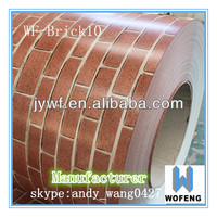 china factory metal building materials color coated steel coil brick grain ppgi brick pattern prepainted galvanized steel coil