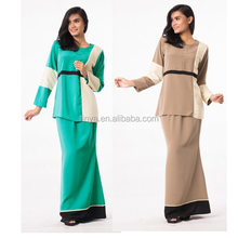 New fashion polyester muslim irl fashion baju muslim modern