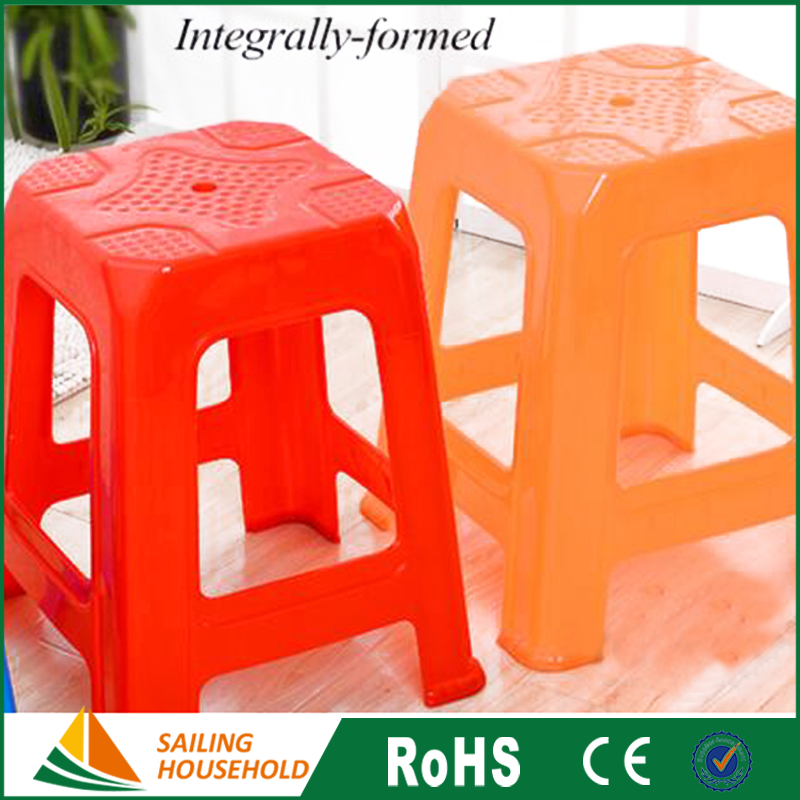 hot selling manufacturing many kinds of colors stackable plastic stool