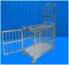 Stainless steel Cage animal/pet multiple door with wheels