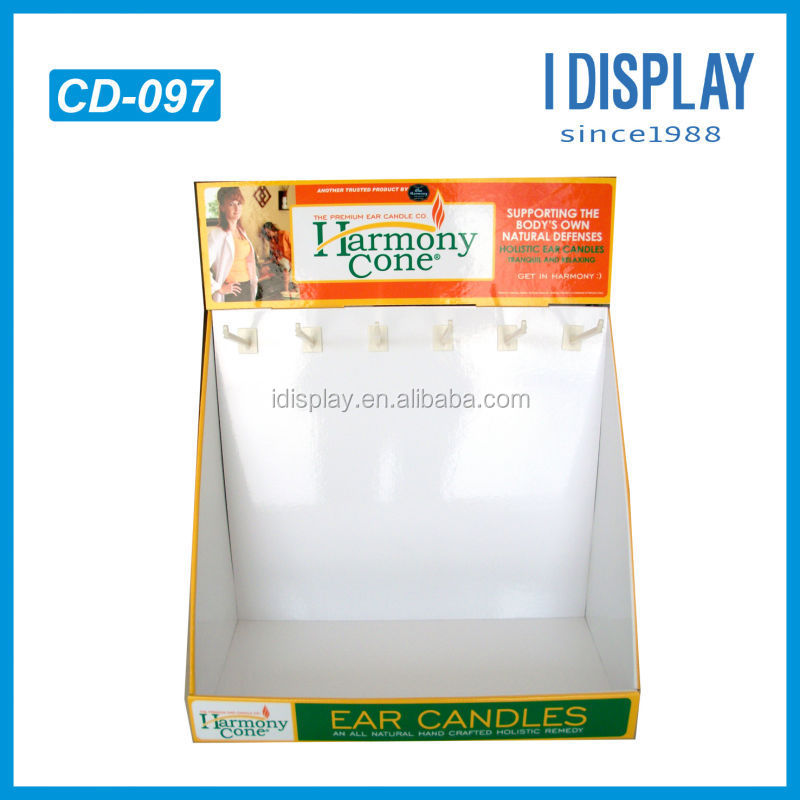 Table Top POS cardboard watch display counter for sale