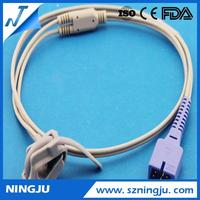 Medical Pulse Oxygen Sensor,Silicon Wrap Neonate 7pins Mennen Reusable Spo2 Sensor Probes