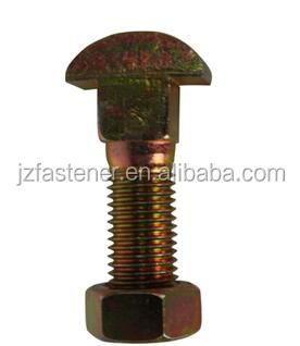 Diamond Neck Fish Bolts for rail fastening tunnel links