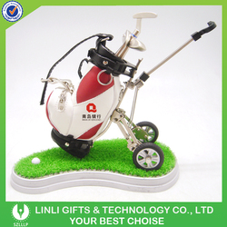 Promotion Leather Golf Trolley Bag Parts With Wheels
