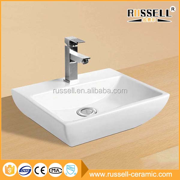 China modern ceramic corner coloured bathroom basin