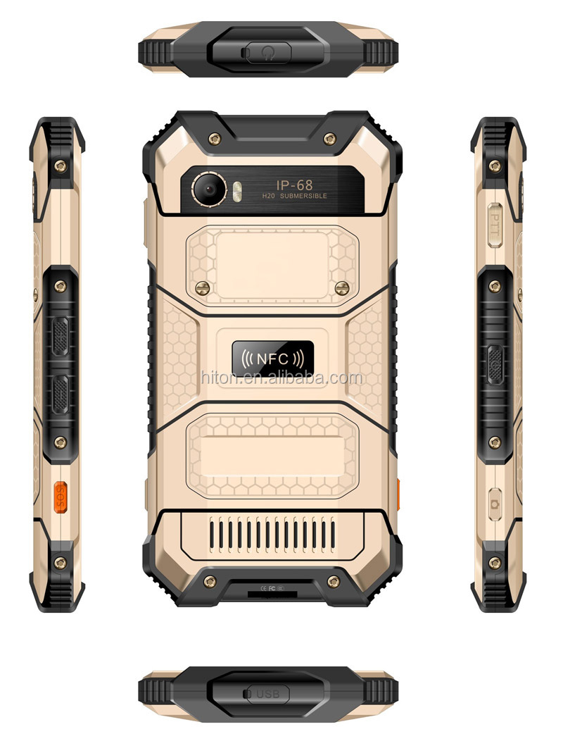 Highton factory 5inch 4G IPS FHD 1920*1080 Octa-core NFC rugged smartphone and rugged mobile phone with NFC SOS PTT