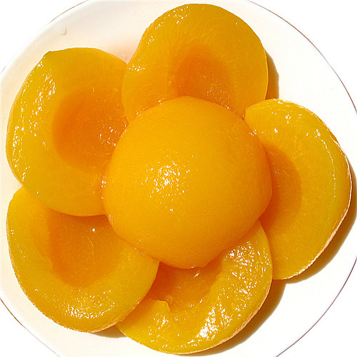 canned peach in heavy syrup of yellow peach