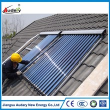 solar collector with heat pipe split soalr collector