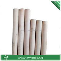 Factory china manufacture natural wooden broom pole wood pole climber broom stick with thread