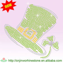 New Hot-sale China Manufacturer cheer bow rhinestone transfer standard size Saint Patrick's Day 48