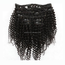 Sew In Weave afro kinky aliexpress malaysian virgin hair full head clip in hair extensions free sample afro kinky clip